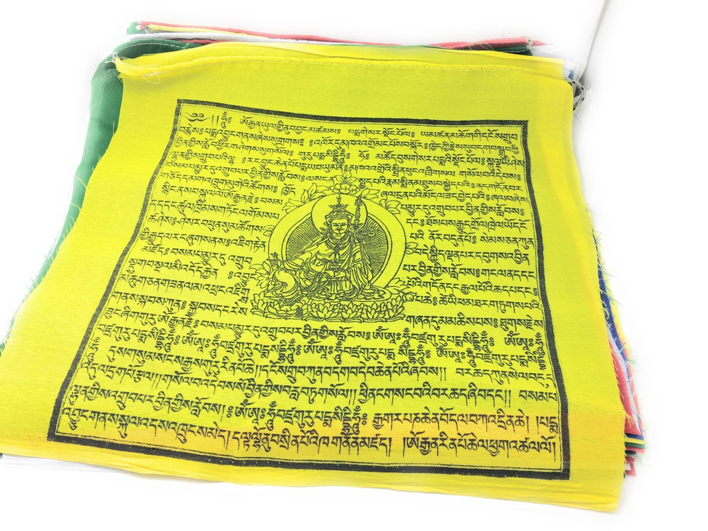 Extra Large Guru Rinpoche Prayer flags 27 feet long