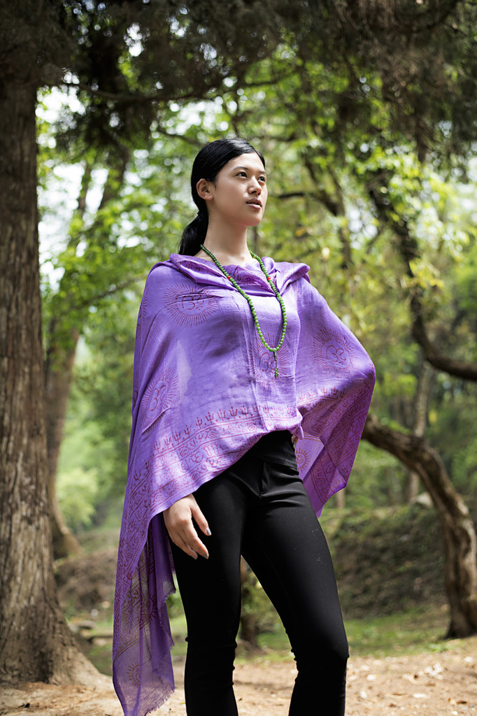 Om Nama Shiva  Shawl/ Scarf - Purple