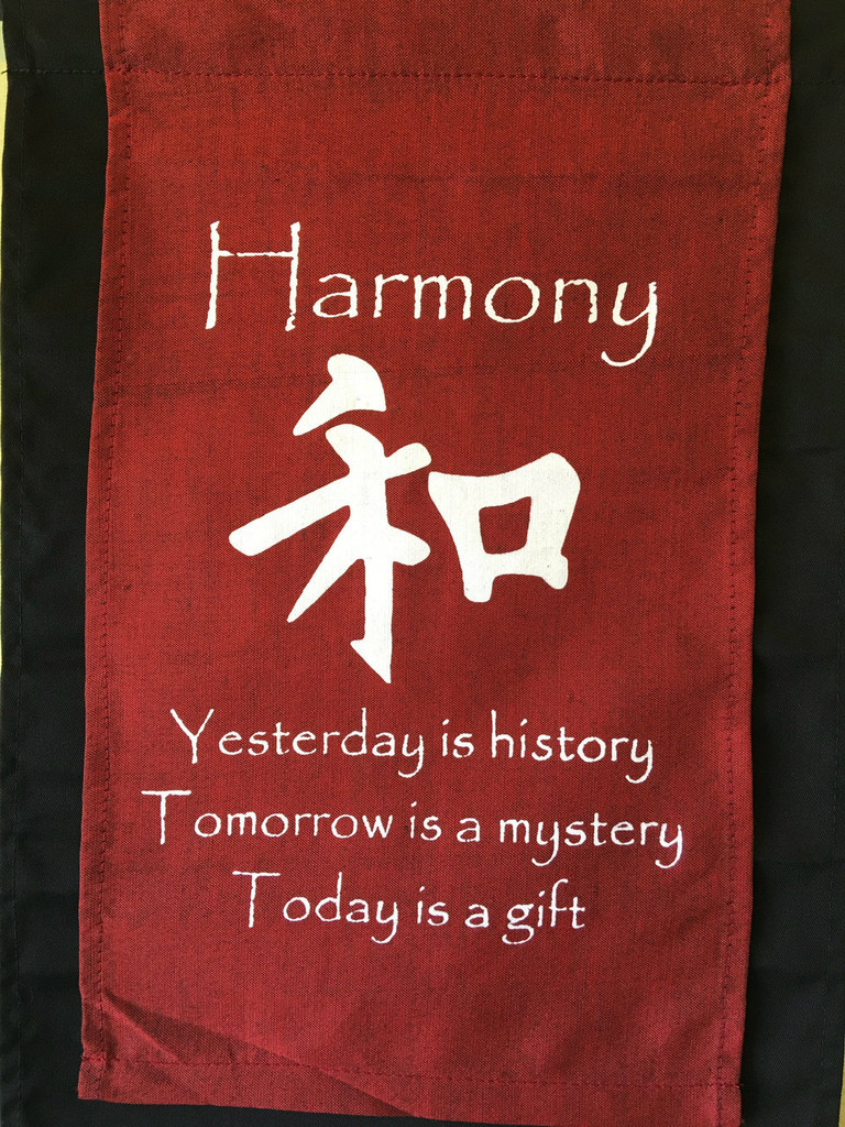 Harmony Inspirational Yoga Banner Scroll Style Three