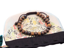 Symbols of the Himalayas Dark Yak Bone Wrist Mala Mracelet
