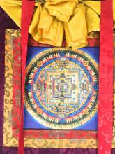 Traditional Tibetan Kalachakra Mandala Thangka Painting