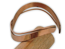 Simple Double Wave Copper Cuff