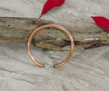 Simple Rounded Solid Copper Cuff