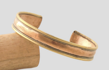 Simple Flat Three Metal Cuff Bracelet