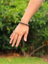 Tibetan Yak Bone Buddha of Compassion Wrist Mala Bracelet