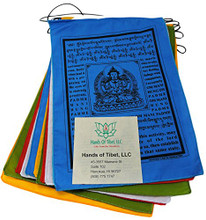 Handmade Large Buddha of Compassion Prayer flags with English Translation