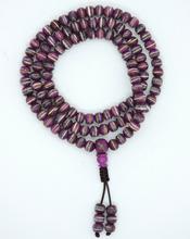 Tibetan Himalayan Yak Bone 108 Beads Embedded Necklace for Meditation (Purple)