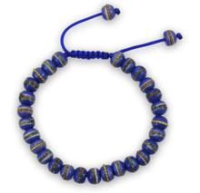 Tibetan Mala Embedded Medicine Wrist Mala for Meditation Handmade Blue medicine bracelet
