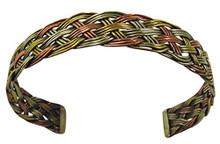 Handmade Twisted Three Metal Medicine  Healing Bracelet From Nepal