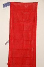 Vertical Prayer Flags Solid Red Color
