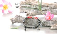 Hands Of Tibet Embedded Medicine Bracelet Yoga Healing Beads Adjustable Wrist Mala Many Color Choices (Black/Red)