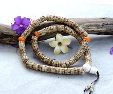 Hands Of Tibet Yak Bone Mala 108 Beads Necklace, Natural Himalaya Yak Bone Prayer Beads Wrist Mala Wrap Bracelet Yoga Healing for Meditation Many Choice (Large Carved)