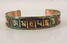 Handmade Tibetan Three Metal Healing Mantra Yoga Bracelet 3 color Red