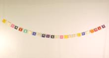 Mini Handmade Paper Prayer Flags with Om Mani Padme Hum