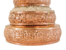 "Hands Of Tibet Copper Mandala Offering Set 5 Inch Diameter (5"" Gold)"