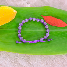 Individually Knotted Amethyst Wrist Mala Yoga Bracelet for Meditation