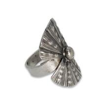 Handmade Big Leaf Thai Karen Hill Tribe Silver Ring (Big Leaf, Adjustable)