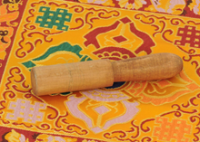 Small Wooden Tibetan Singing Bowl Striker, Mallet From Nepal