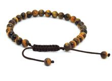 Tibetan Mala Tiger Eye Wrist Mala Beads for Meditation (27 Beads)