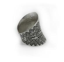 Handmade Thai Karen Hill Tribe Silver Ring (featherRing, Adjustable)