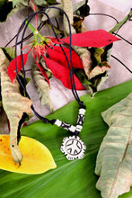 Handmade Tibetan Yak Bone Pendant (Peace Sign)