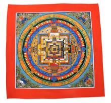 Handmade Kalachakra mandala Tibetan Thangka Painting From Nepal (Blue)
