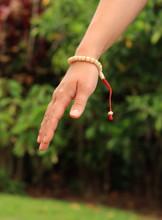 Yak Bone Tibetan Wrist Mala/Bracelet with Guru Bead for Meditation