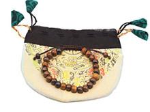Handmade Dark Yak Bone Wrist Mala Bracelet for Meditation (Plain)