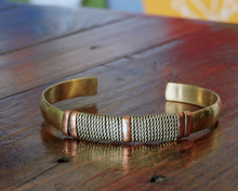 Handmade Tibetan Three Metal Medicine Healing Bracelet from Nepal Adjustable