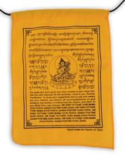 Handmade White Tara Prayer Flags with English Translation (6X8)