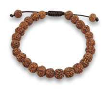 Tibetan Mala Rudraksha Wrist Mala Bracelet for Meditation (Plain)