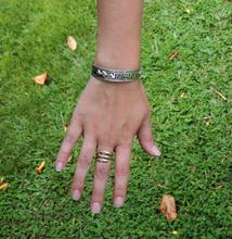Handmade Tibetan Three Metal Healing Mantra Yoga Bracelet (Om mani Dorje)