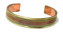 Handmade Tibetan Three Metal Medicine Bracelet from Nepal (S9)