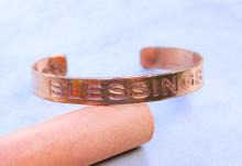 Blessings Copper Cuff Bracelet Handmade for men and women