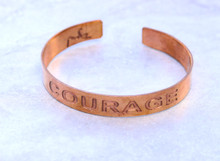 Courage Copper Cuff Bracelet Handmade for men and women