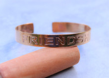 Friendship Copper Cuff Bracelet Handmade for men and women