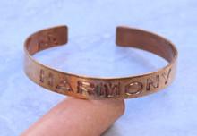 Harmony Copper Cuff Bracelet Handmade for men and women