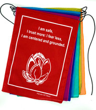 Handmade Rainbow Affirmation, Love, Courageous, Imagination, Prayer Flags 9X12