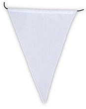 Blank 5 color Prayer Flags Surged Edges Put Your Own Prayers (9X11)