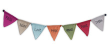 Handmade Affirmation Magnet Prayer Flags Dream Believe Hope Happiness Peace