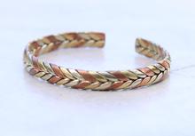 Handmade Tibetan Three Metal Cuff Medicine Bracelet from Nepal