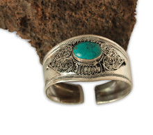 Handmade Tibetan Silver Medicine Bracelet from Nepal Many Choice (Turquoise)