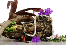 Healing Embedded 108 Bead Mala for Meditation- Black and White