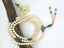 Handmade heart chakra mother of pearl Mala 108 beads for meditation