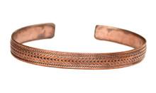 Handmade Tibetan Medicine Healing Twisted/Braided Copper Cuff Bracelet