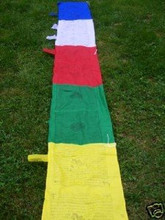 Hands Of Tibet Extra Large Tibetan Vertical Prayer Flags