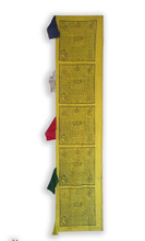 Handmade Traditional Tibetan Vertical Prayer flags solid color yellow, green, red, white and blue five color represent five eleven five wisdom buddha.