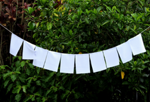 Solid white Blank Prayer Flags Set of 10 Flags Put Your own Prayers 6X8