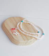 Pearl mala 108 beads for meditation