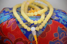 Yellow Jade mala 108 beads for meditation